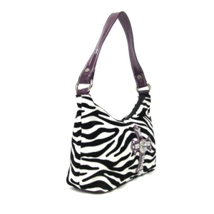 cs 82005 handbag zebra cross purple