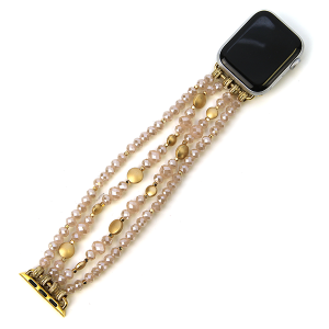 Watch Band 070f 82 Avant contemporary stretch bead watch band 38mm 40mm pink
