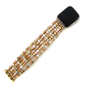 Watch Band 168a 82 Avant contemporary stretch bead watch band 38mm 40mm gold silver rose