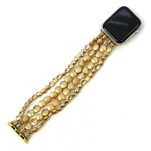 Watch Band 108a 82 Avant contemporary stretch bead watch band 38mm 40mm gold