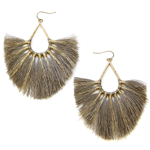 Earring 2845b 82 Avant contemporary tassel earrings tear drop gold accent lbrw