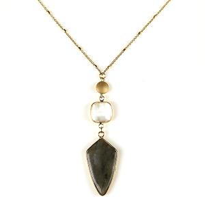 Necklace 862k 82 Avant contemporary charm necklace gray