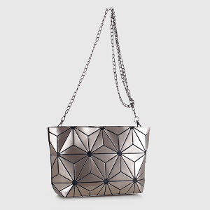 Isabelle 87480A geometric crossbody clutch champagne