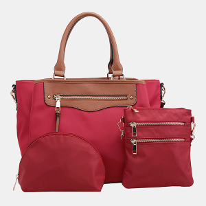 Isabelle 87767 3in1 nylon satchel red