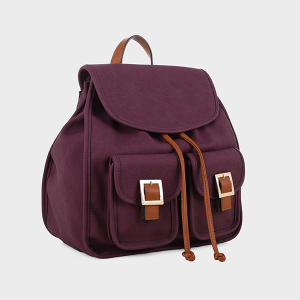 Isabelle 87875 buckle fashion backpack purple