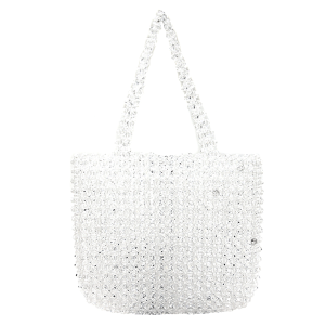 New Trends 9209 crystal beaded tote clear
