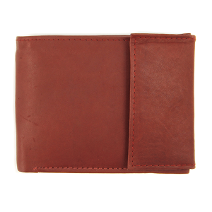 Simple bifold velcro wallet A30 red brown