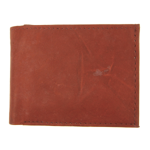 Simple bifold wallet A97 red brown