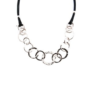 Necklace 124 99 Empire hoop ring string necklace silver