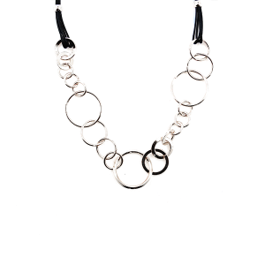 Necklace 125 99 Empire hoop ring string necklace silver