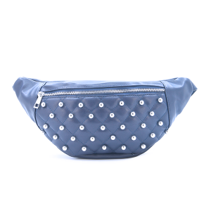 Fanny Pack Quilted Bead Leather Navy