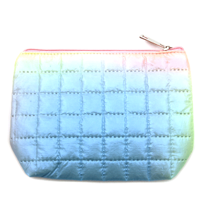 Fashion Collection ABG602 quilted cosmetic pouch blue yellow