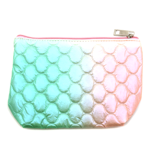 Fashion Collection ABG602 quilted cosmetic pouch green pink