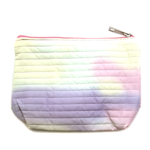 Fashion Collection ABG602 quilted cosmetic pouch yellow purple