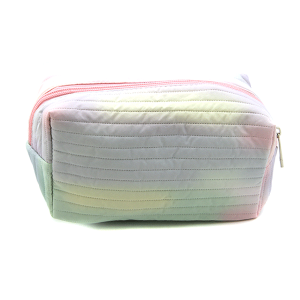 Fashion Collection ABG603 quilted cosmetic pouch yellow purple