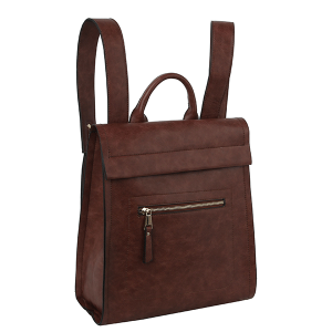 Handbag Republic ALM-0032 modern chic zip backpack coffee
