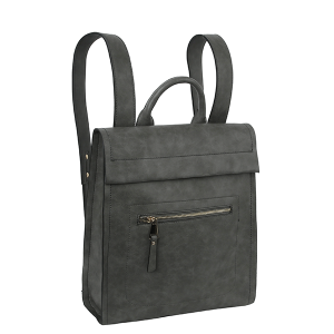Handbag Republic ALM-0032 modern chic zip backpack gray