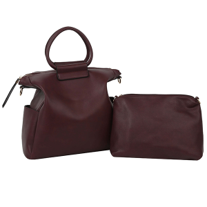 Handbag Republic ALM 0047 2 in 1 satchel crossbody set wine