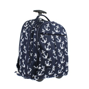 Luggage 6018 rolling backpack anchor navy