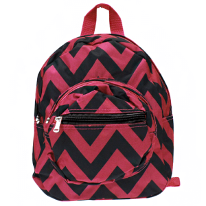 luggage B 5 601 AK mini backpack chevron black burgundy