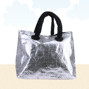 Beach Bag b562 shine black silver