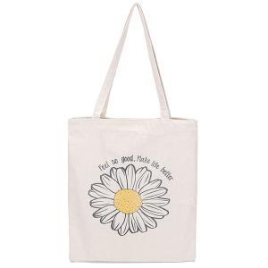 Odiva B8033 shoppers tote feel so good make life better flower