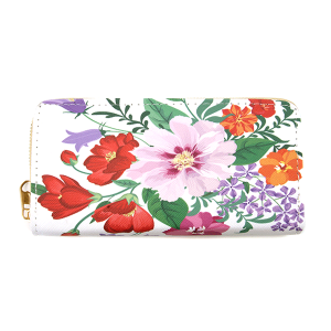 Minky BA1735-1 zipper wallet flower multi