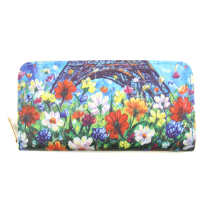 Minky BA1735-4 zipper wallet flower multi
