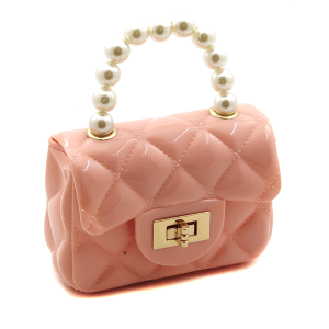 Minky BA1772 mini quilted bag pink
