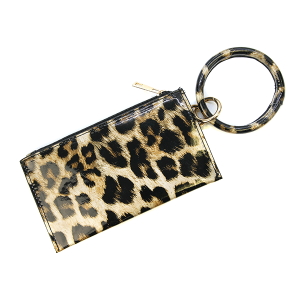 Wrist Wallet BB377X257 Bijorca shiny leopard brown