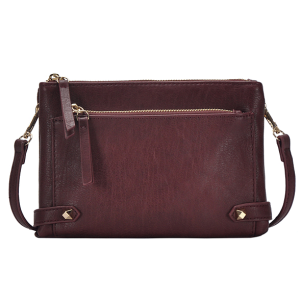 MMS BGA 0821 fashion zipper crossbody dark berry