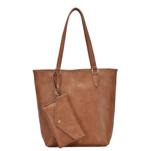 MMS BGA 17955 braided western tote tan