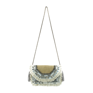 Antik Kraft BGA IN08 jute crossbody fringe cream