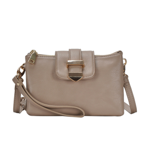 MMS BGT 48604 multi pocket crossbody taupe