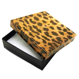 display gift box BX2834 3.75inch 100pc leopard
