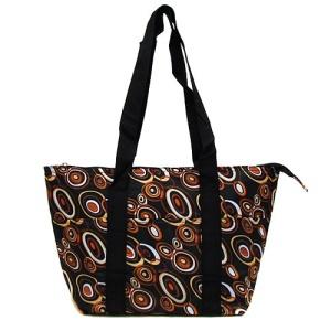 luggage ak C152001 lunch bag circles brown