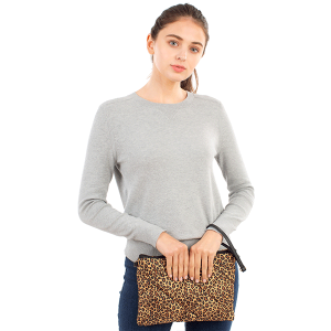 Clutch Crossbody quilted puffy pattern CB1808 leopard