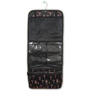 luggage AK CB25 16 hanging cosmetic case praying hands black