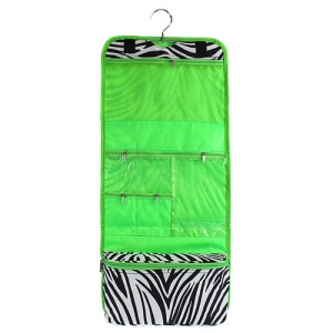 luggage AK CB25 2006 hanging cosmetic case zebra green