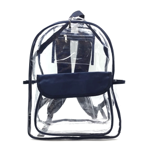 luggage CK CBP clear backpack navy blue