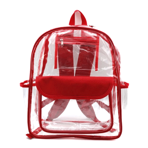 luggage CK CBP clear backpack red