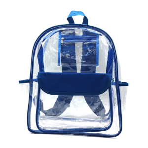 luggage CK CBP clear backpack royal blue