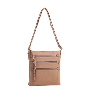 Deluxity CHY 2039L Beige Crossbody Handbag with gun holster