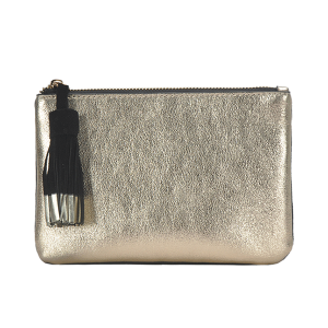 MMS CLS 82208 tassel two color mini clutch gold