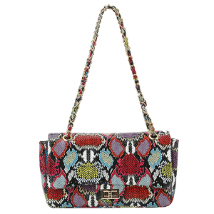 Handbag Republic CLV-0168 MT3 twist lock shoulder bag multi snake print