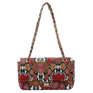 Handbag Republic CLV-0168 MT4 twist lock shoulder bag multi snake print