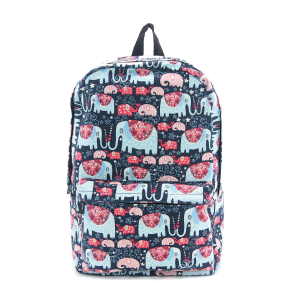 CM 87309CN floral elephant backpack blue