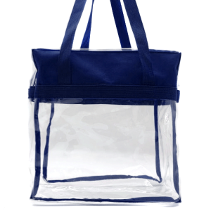 luggage CK CTB clear tote bag navy blue