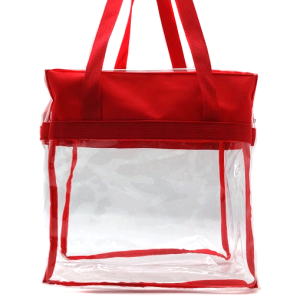luggage CK CTB clear tote bag red