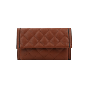 Handbag Republic Quilt Stitch Leather Clutch Wallet Brown